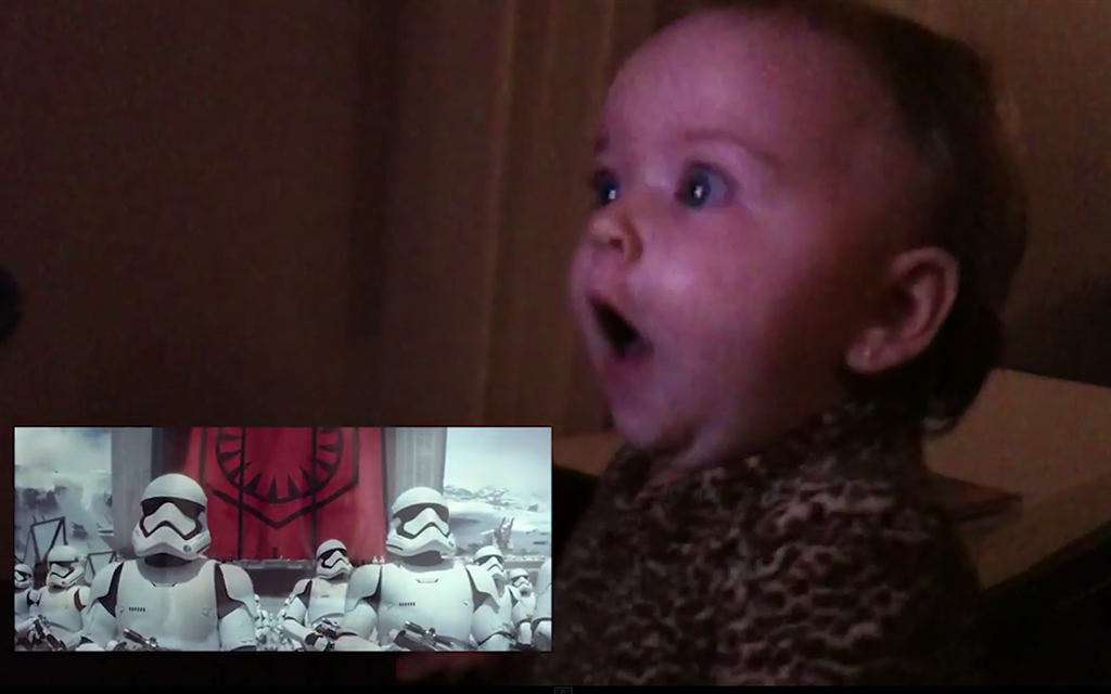 "Babies React To Star Wars ""The Force Awakens"" Trailer"