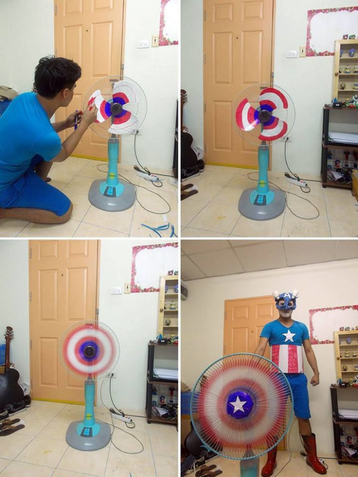 low cost cosplay, captain america costume