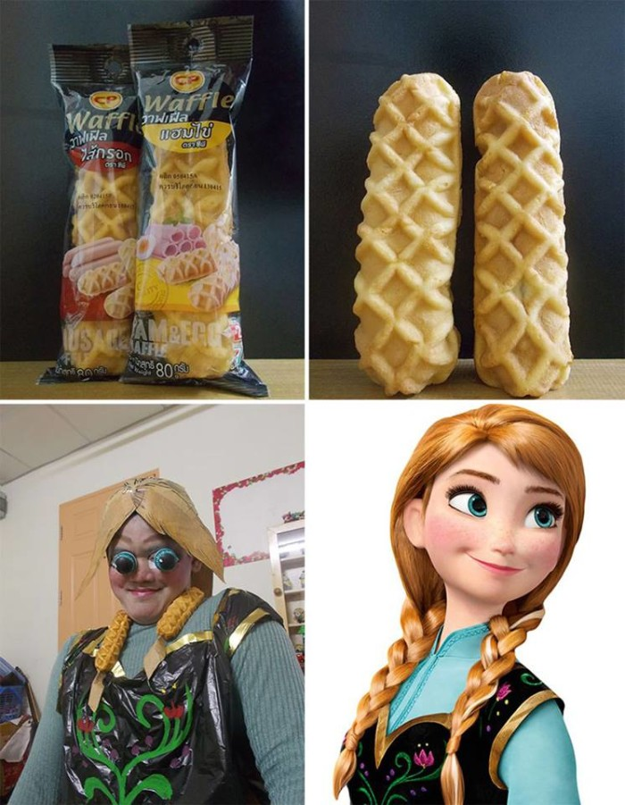 low cost cosplay, anna frozen costume