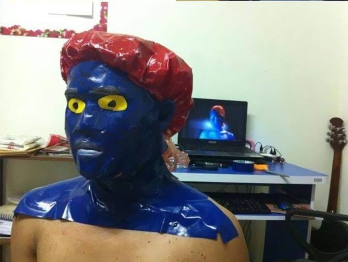 low cost cosplay, mystique costume, x-men
