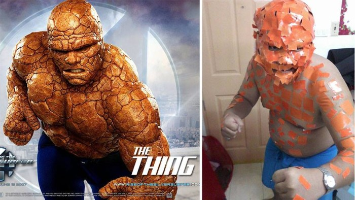 low cost cosplay, thing costume