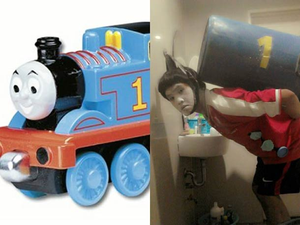 low cost cosplay, thomas train costume