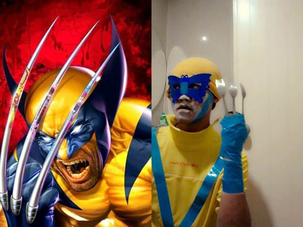 low cost cosplay, wolverine costume